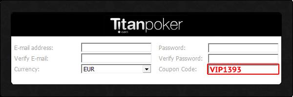 Titan Poker Coupon Code